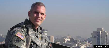 Maj. Stuart Wolfer, a 36-year-old Jewish Army reservist from Idaho, died in an April 6 rocket attack in Baghdad's Green Zone. (Photos: Courtesy Wolfer family)