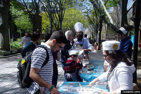 The model matzah bakery on the Ivy League school's famed Locust Walk allowed students the chance to make dough from scratch and roll out their own shmura matzah.