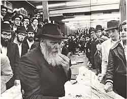 The Rebbe encouraging Abehsera to whistle.