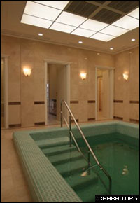 No expense was spared in the construction of Dnepropetrovsk, Ukraine's newest mikvah. Special materials were imported from Italy, while the furniture was custom made.