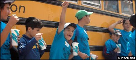 Last year, 10 children from Sderot, Israel, attended a Chabad-Lubavitch day camp in suburban Boston in a program designed to let them unwind and momentarily forget about their war-ravaged hometown.