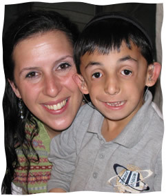 The author, Jackie, with her son, Gabriel