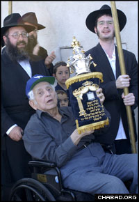 Smaller than the typical Torah, the size was chosen to make the holy scroll accessible to senior citizens and children.