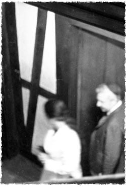 Ariel and Lily Sharon exit the Rebbe's office on that fateful night in 1968 (Photo: Shmuel Rivkin)