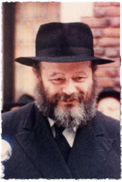 The Rebbe, Rabbi Menachem Mendel Schneerson, of righteous memory, around the time of his first meeting with Lipchitz.