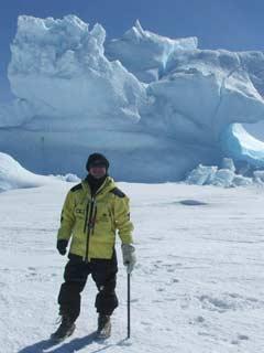 David Wakil in Antartica