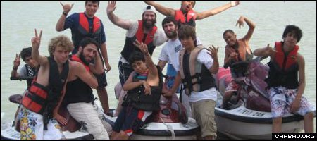 For the children at Camp Gan Israel in South Padre Island, Texas, summer fun means jet skis and deep-sea fishing.