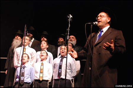"The Chabad Choral Ensemble directed by Rabbi Mendel Moscowitz opened for the Andy Statman Trio, billed as ""The Song"" for the musical evening at Chicago's North Shore Center for the Performing Arts."