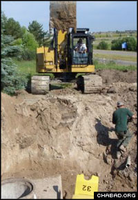 Most of the new ritual bath at Chabad-Lubavitch of Montana will sit below ground level.