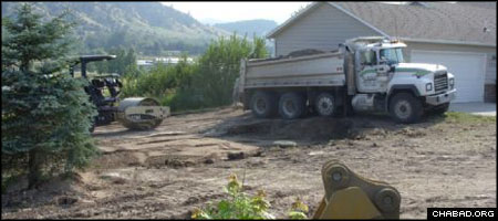 Crews work on a new Jewish ritual bath in Montana, likely the first in the northern state.