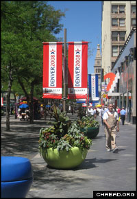 Denver has unfurled its banners for the Democratic National Convention, which begins Monday. (Photo: Andy Bosselman)