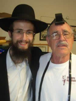 In Tefillin for the first time since his Bar Mitzvah