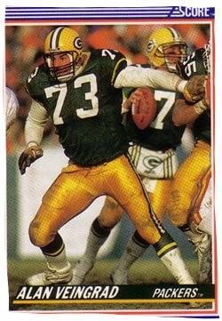 Alan Veingrad's football card