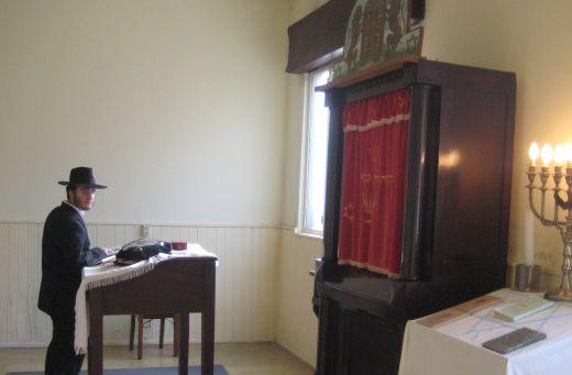 Morning prayers at the synagogue