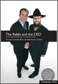 The rabbi who encountered Zweifel on the Brooklyn Heights Promenade, Rabbi Ari Raskin, co-authored the professor's newest book, The Rabbi and the CEO.