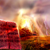 Moshê Ascende ao Céu para Receber as Tábuas da Lei