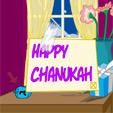 Chanukah Window Scene