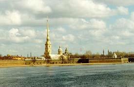 La forteresse Pierre-et-Paul (Petropavlov) à Petersbourg où fut emprisonné Rabbi Chnéour Zalman après son arrestation en 1798