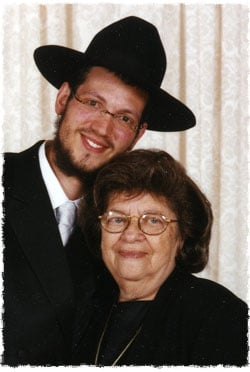 Grandma, Esther Zissel bat Malkah, and I on my wedding day