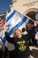 Demonstrators support Israel's military action