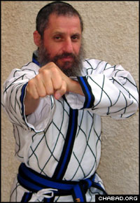 Rabbi Fishel Jacobs is a noted expert in martial arts.