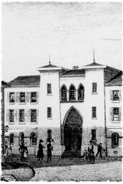 La sinagoga de Karlsruhe, Alemania.