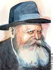 The Rebbe (a portait by Sarah Kranz)