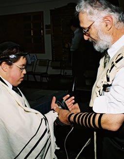 Steve and Rafi at his Bar Mitzvah