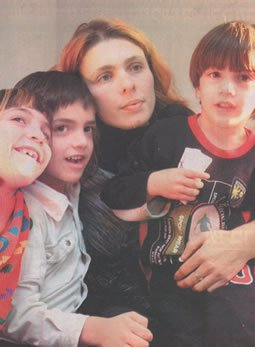 Galit and her three children with whom she escaped Gaza