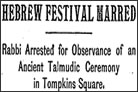 New York Times Reports on Birkat Hachamah in 1897