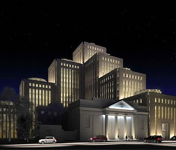 An artist's rendition of the new community center currently under construction