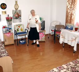 A typical room in the old-age home