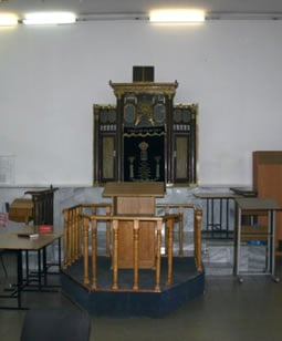 The preserved interior of the synagogue where Rabbi Levi Yitzchak Schneerson presided the last four years before he was arrested and exiled