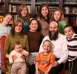 Shmuel and Chana Kaminezki and their children