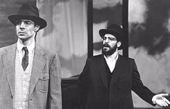 """Reuven Russel, right, appearing in the play """"The Quarrel."""""""