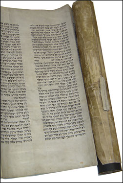 A Scroll of Esther handwritten by Rabbi Shmuel (courtesy of Agudas Chassidei Chabad Lubavitch Library)