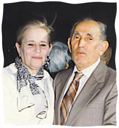 The author's parents in 1990