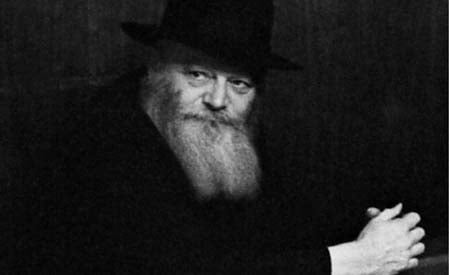 "Jerry took close-up headshots of many of the attendees. The negatives of the Rebbe's headshots are missing. This picture, cropped from a larger photo, is the one close up ""portrait"" in the collection. © 2009 JERRY DANTZIC ARCHIVES, All Rights Reserved"