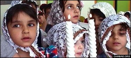 """Iranian Jewish children, who are segregated from their Muslim classmates when they attend school, are seen in traditional dress in Ramin Farahani's documentary, """"Jews in Iran."""""""