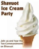 Shavuot Dairy Lunch and Ice cream party for Kids