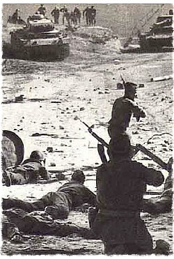 The Russians fight the Germans during World War II