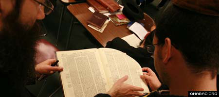 """Students study during a """"Taste of Yeshiva"""" program at Tiferes Bachurim, a division of the Rabbinical College of America in Morristown, N.J. (Photo: Y. Moully)"""