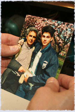 Jerry and Grayson Dantzic (reproduction of a photo by Cynthia Dantzic)