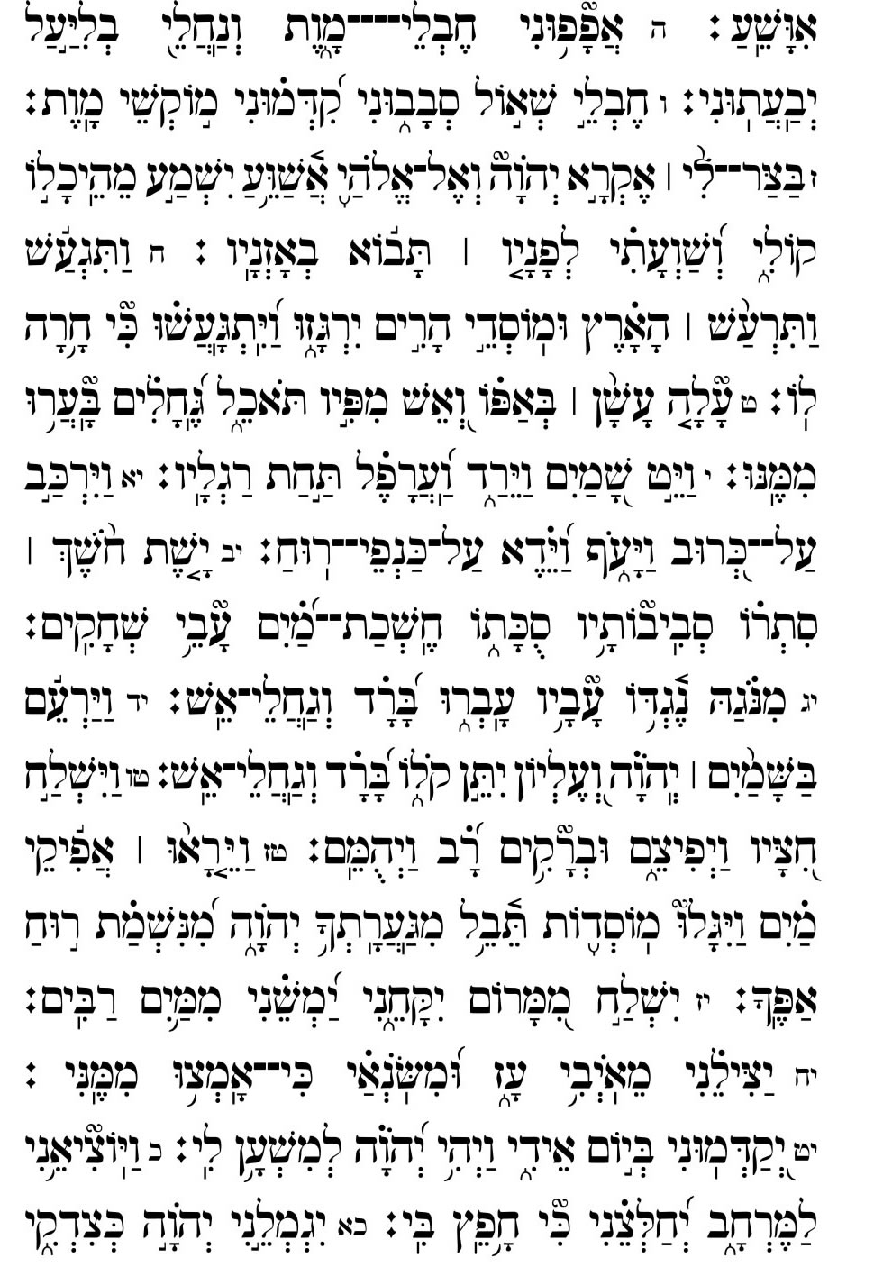 Daily Tehillim - Psalms - Daily Torah Study