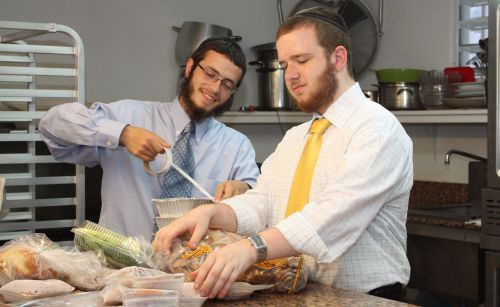 We seal each and every package ensuring that they contain only kosher ingredients from the Chabad kitchen.