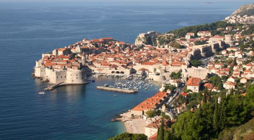 The breathtaking beauty draws tourists from all over the world to this town nestled in the Croatian coast.
