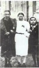 Irena posing as a nurse to enter the ghetto