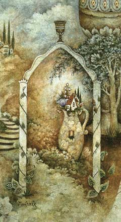 Detail from a painting by chassidic artist <a href=''/article.asp?aid=84315'' target=''_blank''>Michoel Muchnik</a>
