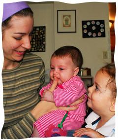 """Yael. Adelle Shayna (Shiny)z""""l, and Menachem Mendel (Moo)"""