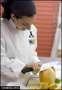 Jordana Hirschel, a graduate of the Center for Kosher Culinary Arts, works as a personal chef.